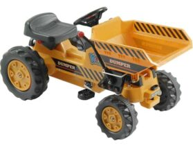 Kalee Kids Pedal Tractor with Dump Bucket Yellow