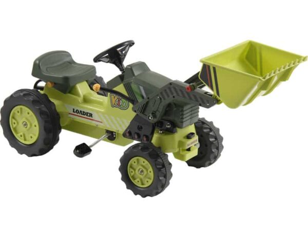 Kalee Kids Pedal Tractor with Loader Green