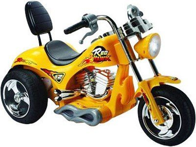 Mini Motos Red Hawk Motorcycle 12v Yellow_2