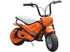 MotoTec 24v Electric Mini Bike Orange