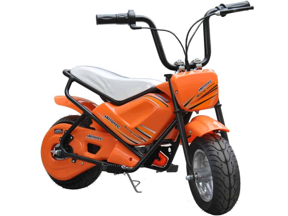 MotoTec 24v Electric Mini Bike Orange