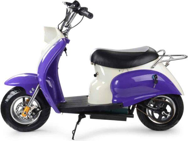 MotoTec 24v Electric Moped Purple