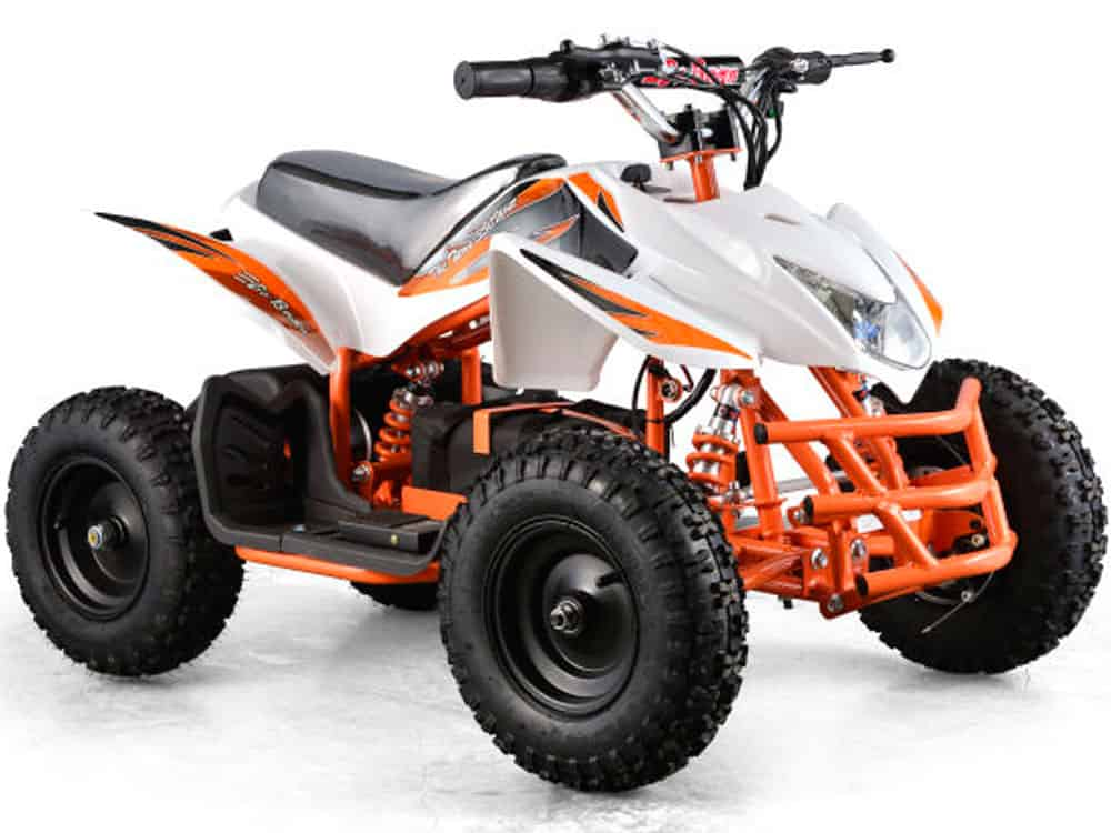 MotoTec 24v Mini Quad Titan v5 White