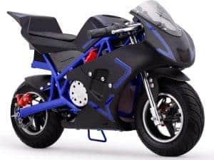 MotoTec Cali 36v Electric Pocket Bike Blue