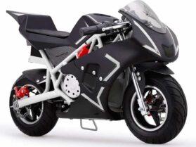MotoTec Cali 36v Electric Pocket Bike White