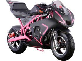 MotoTec Cali Gas Pocket Bike 40cc 4-Stroke Pink