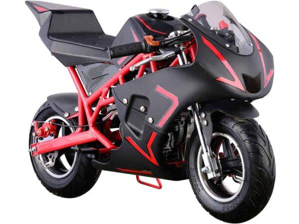 MotoTec Cali Gas Pocket Bike 40cc 4-Stroke Red