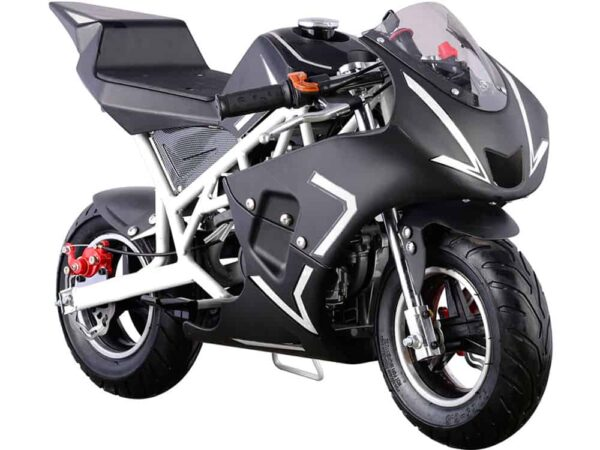 MotoTec Cali Gas Pocket Bike 40cc 4-Stroke White