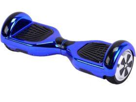 MotoTec Self Balancing Scooter 36v 6.5in Blue Chrome (Bluetooth)