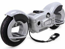 MotoTec Wheelman V2 50cc Gas Skateboard Silver