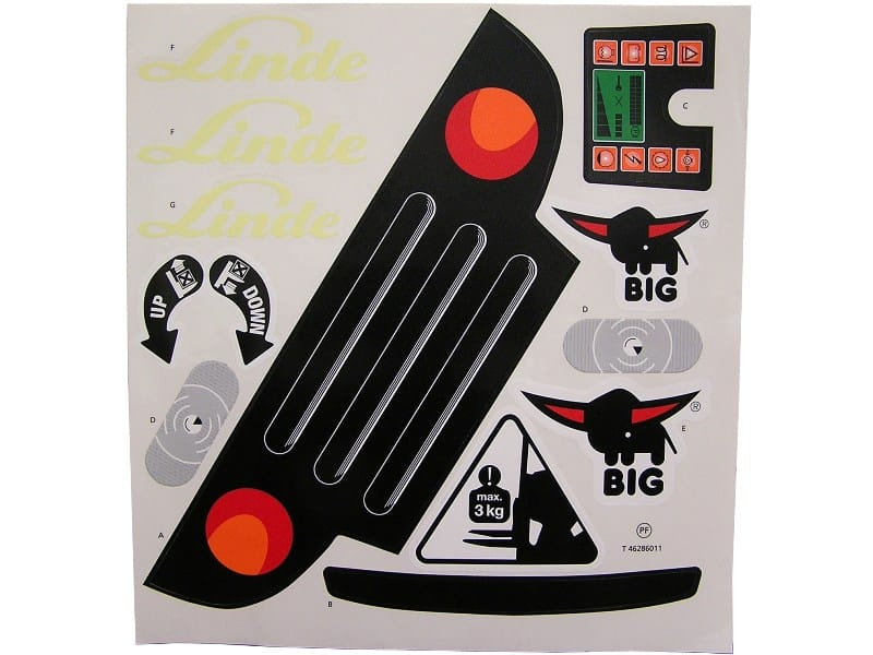 Big Linde Forklift - Sticker Kit