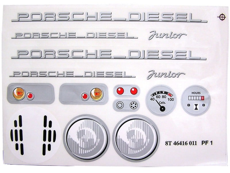 Porsche Diesel Junior - Sticker Kit