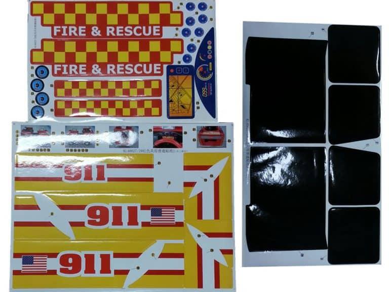 Kalee Fire Truck - Sticker Kit