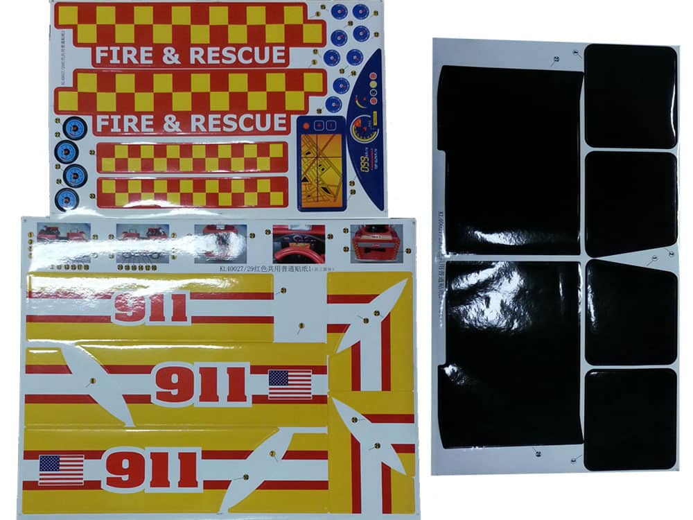 Kalee Fire Truck - Sticker Kit