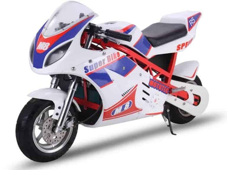 MotoTec 1000w 48v Electric Superbike White