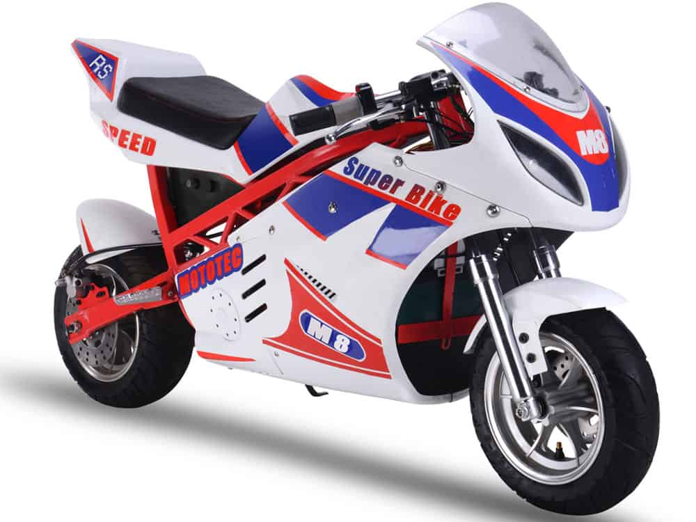 MotoTec 1000w 48v Electric Superbike White_6