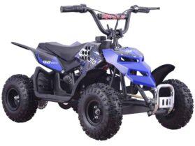 MotoTec 24v 250w ATV Mini Monster v1 Blue