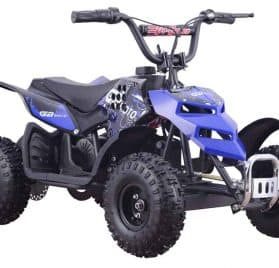 MotoTec 24v 250w ATV Mini Monster v1 Blue