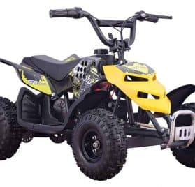 MotoTec 24v 250w ATV Mini Monster v1 Yellow
