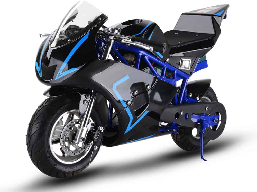 MotoTec 36v 500w Electric Pocket Bike GP Blue_2