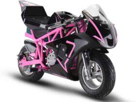 MotoTec 36v 500w Electric Pocket Bike GP Pink