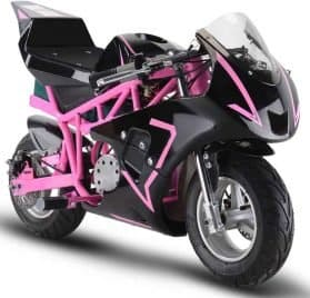 MotoTec 36v 500w Electric Pocket Bike GP Pink