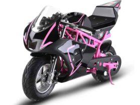 MotoTec 36v 500w Electric Pocket Bike GP Pink_4