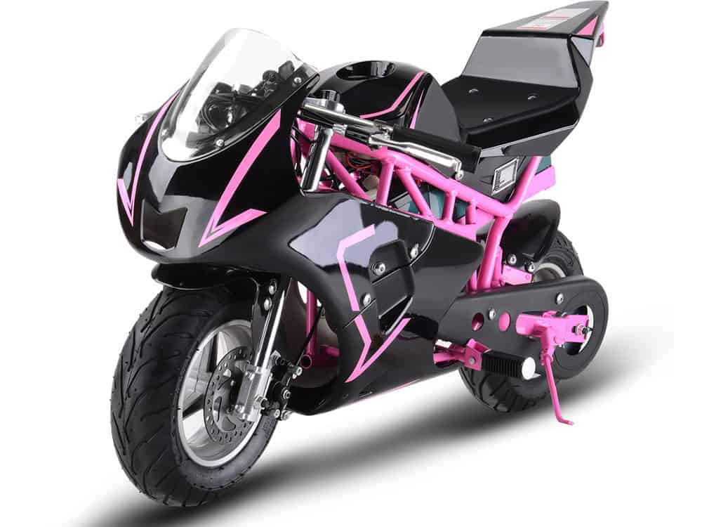 MotoTec 36v 500w Electric Pocket Bike GP Pink_4