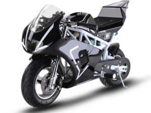 MotoTec 36v 500w Electric Pocket Bike GP White_4