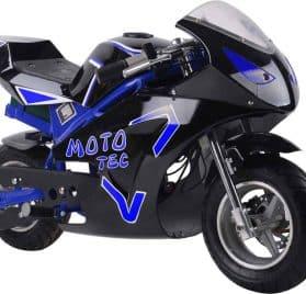 MotoTec 36v 500w Electric Pocket Bike GT Blue