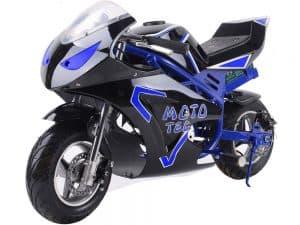 MotoTec 36v 500w Electric Pocket Bike GT Blue_4