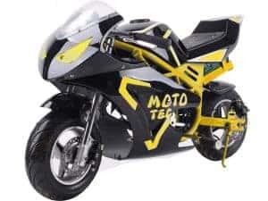 MotoTec 36v 500w Electric Pocket Bike GT Yellow_4
