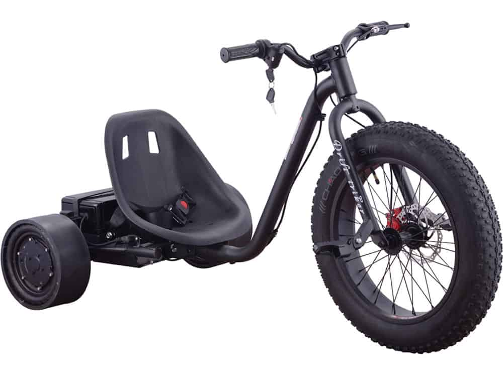 MotoTec Drifter 36v 900w Electric Trike Black