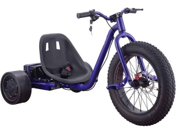 MotoTec Drifter 36v 900w Electric Trike Blue