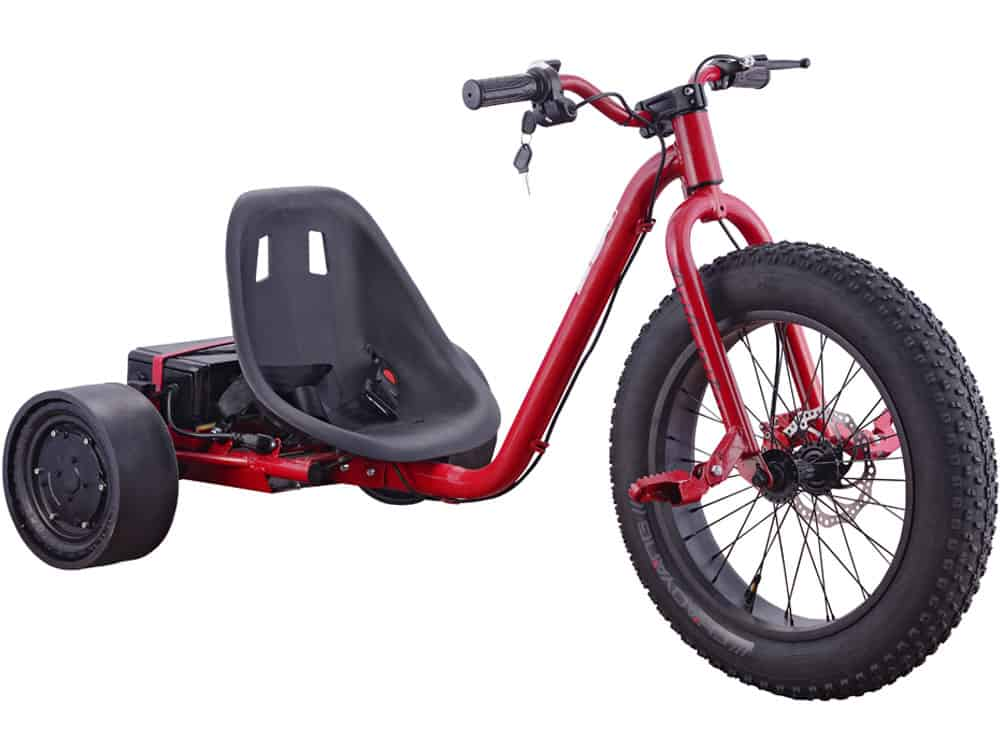 MotoTec Drifter 36v 900w Electric Trike Red