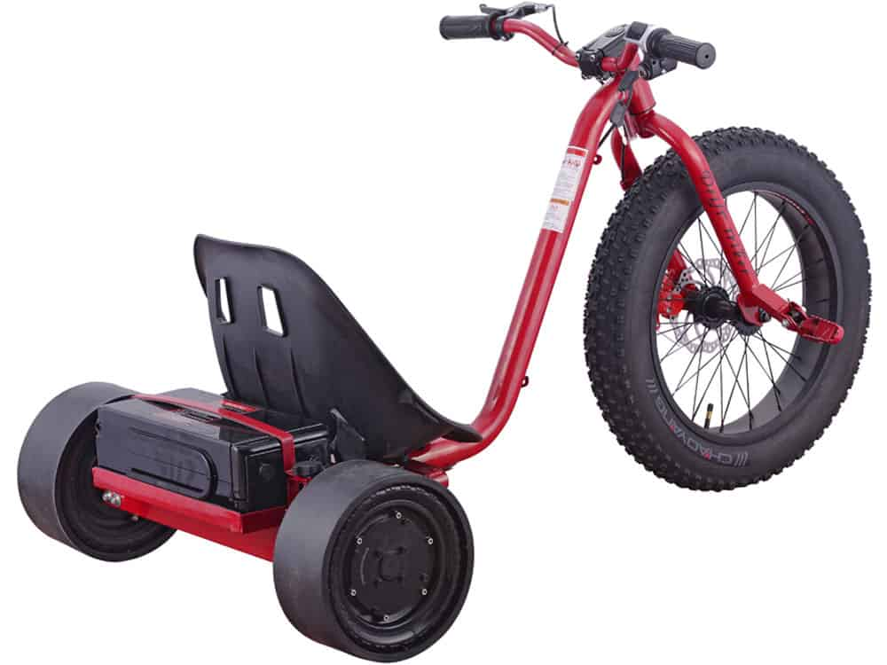 MotoTec Drifter 36v 900w Electric Trike Red_2