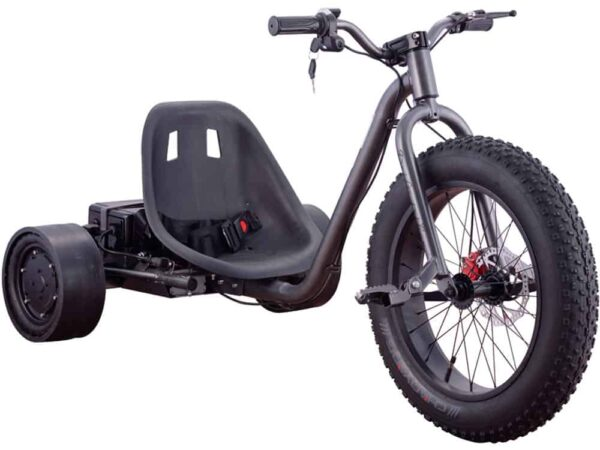 MotoTec Drifter 36v 900w Electric Trike Silver