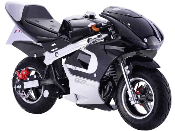 MotoTec GBmoto Gas Pocket Bike 40cc 4-Stroke Black