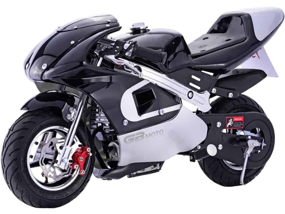 MotoTec GBmoto Gas Pocket Bike 40cc 4-Stroke Black_4