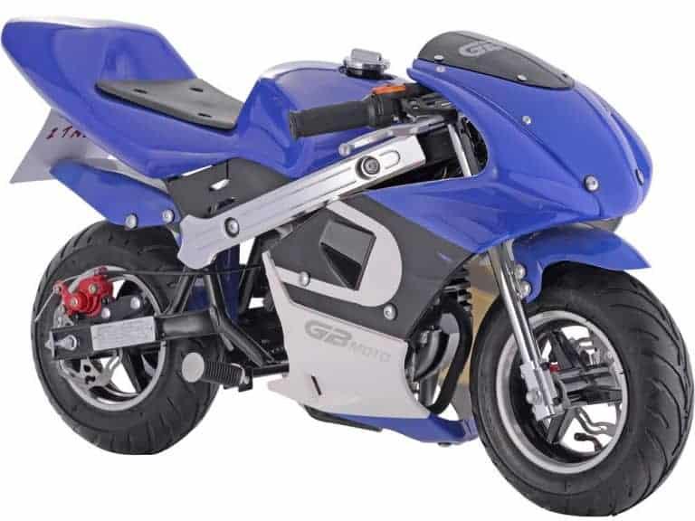 MotoTec GBmoto Gas Pocket Bike 40cc 4-Stroke Blue