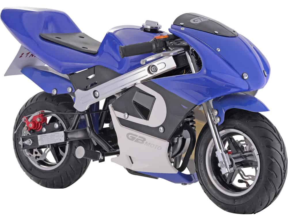 MotoTec GBmoto Gas Pocket Bike 40cc 4-Stroke Blue