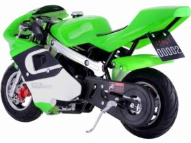 MotoTec GBmoto Gas Pocket Bike 40cc 4-Stroke Green_2