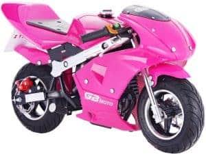 MotoTec GBmoto Gas Pocket Bike 40cc 4-Stroke Pink