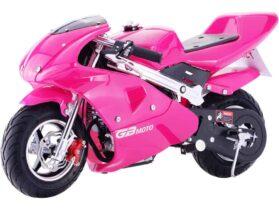 MotoTec GBmoto Gas Pocket Bike 40cc 4-Stroke Pink_4