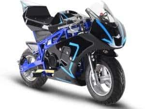 MotoTec Gas Pocket Bike GP 33cc 2-Stroke Blue
