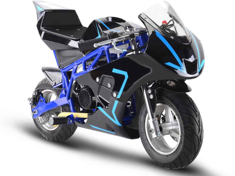 MotoTec Gas Pocket Bike GP 33cc 2-Stroke Blue