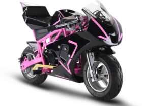 MotoTec Gas Pocket Bike GP 33cc 2-Stroke Pink