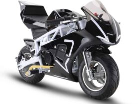 MotoTec Gas Pocket Bike GP 33cc 2-Stroke White
