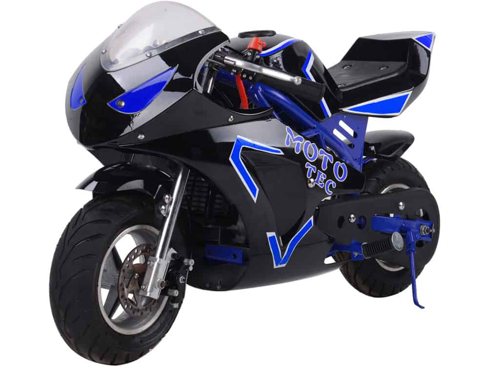 MotoTec Gas Pocket Bike GT 49cc 2-Stroke Blue_2