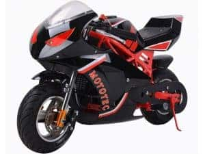 MotoTec Gas Pocket Bike GT 49cc 2-Stroke Red_4